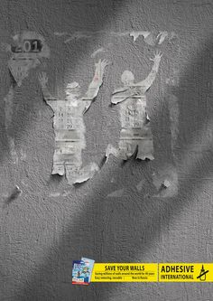 Blu Tack: Walls     Save your walls.     Saving millions of walls around the world for 40 years. Easy removing, reusable. Now in Russia.  Advertising Agency: LBL Communication Group, Moscow, Russia