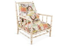 Brissac Chair, Neo Toile on OneKingsLane.com Exclusive to One Kings Lane: A bamboo-inspired frame and chinoiserie-style upholstery give this chair its distinctive look.