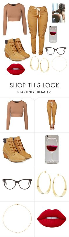 """Swaggy but Sexy"" by queenniyniy on Polyvore featuring Timberland, Wet Seal, STELLA McCARTNEY, Lana, Sole Society and Lime Crime"