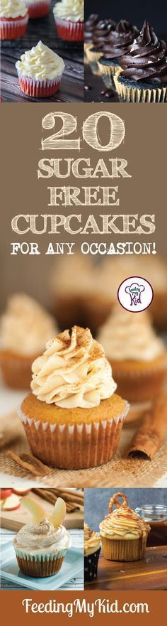 Try these amazing sugar free cupcakes! They're perfect for any and all…… Try these amazing sugar free cupcakes! They're perfect for any and all… Try these amazing sugar free cupcakes! They're perfect for any and all…… Sugar Free Cupcakes, Sugar Free Deserts, Sugar Free Sweets, Sugar Free Frosting, Sugar Free Cookies, Diabetic Deserts, Low Carb Desserts, Diabetic Foods, Diabetic Cupcakes