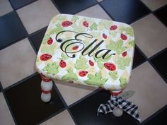 Kids Wooden Painted Step Stools | Children's Personalized Stools