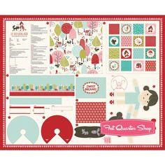 Lil' Red Multi Sweet Dreams Project Panel SKU# 20500-11 - Lil' Red - Moda Fabrics   Fat Quarter Shop