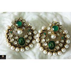 Polki Earring PO364 - Earrings by Vastradi