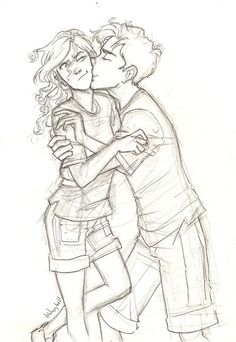 Percabeth Percy and Annabeth -- Percy Jackson Character Design Cartoon, Percy And Annabeth, Annabeth Chase, Couple Drawings, Couple Sketch, Percy Jackson Fandom, Illustration, Percabeth, Solangelo