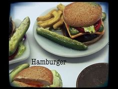 Polymer Miniature Burger and Fries - YouTube