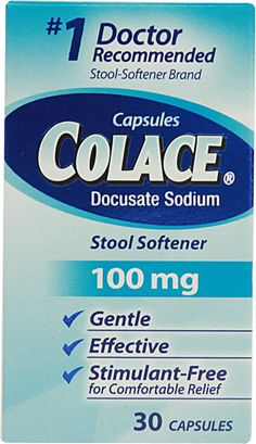 Colace Stool Softener Laxative