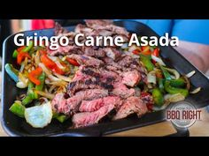 Carne Asada is a great - and really quick dinner. And this recipe shows you how to grill delicious steak to make carne asada. Barbecue Recipes, Grilling Recipes, Slow Cooker Recipes, Beef Recipes, Cooking Recipes, Game Recipes, Smoker Recipes, Grilled Steak Recipes, Grilled Meat