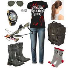 Zombie Hunter by laureybug on Polyvore perfect for halloween