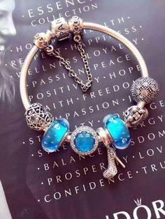 $219 Pandora Sterling Silver Charm Bracelet CB02096