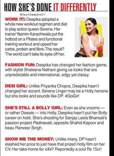 The Telegraph: How She (Deepika's) Done It Different