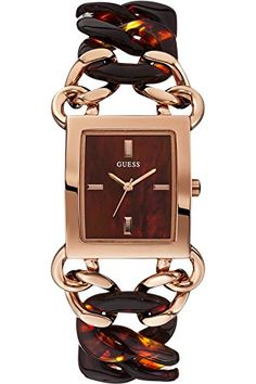 GUESS STEEL W0467L1Womens Dress ElegantStainless Steel Case  BraceletRose Gold ToneBrown DialWR -- Check out the image by visiting the link.