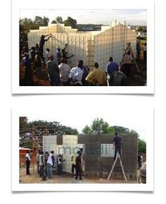 Brick machines are eliminated with moladi walling system - No more bricks - masonry construction Masonry Construction, Low Cost Housing, Brick Masonry, Home Tech, Building Systems, Earth Homes, Affordable Housing, Making Machine, Bricks