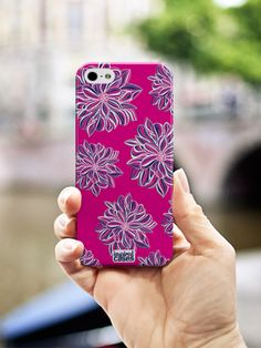 Inspired Cases Pink Flower Design for iPhone 5s Case http://www.inspiredcases.com/ #phonecases #iphonecases #patterns #flowerpattern