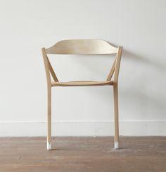 chaise design bois deux pieds france