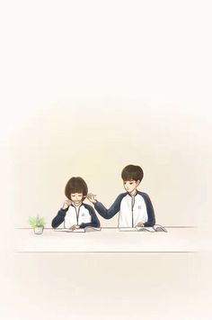 I love everything about this drama, this is the cutest thing i ever see in my life (A Love so beautiful) Cute Couple Art, Anime Love Couple, Couple Cartoon, Cute Anime Couples, Korean Art, Korean Drama, Kawaii 365, Cute Couple Wallpaper, A Love So Beautiful