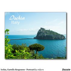 Shop Ischia, Castello Aragonese - Postcard created by stdjura. Souvenirs From Italy, Naples, Castle, Photography, Photograph, Fotografie, Fotografia, Castles, Photoshoot
