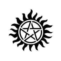 """Supernatural Tattoo Transparent Decal - 3x3"""" ($2.99) ❤ liked on Polyvore featuring accessories, body art, supernatural, fillers, tattoos, backgrounds and fandom"""