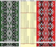 34 tarjetas hexagonales, 4 colores, repite cada 16 movimientos // sed_520_c6 diseñado en GTT༺❁