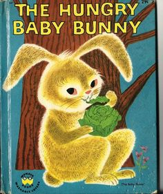 1951 The Hungary Baby Bunny Rabbit Hare Cabbage by TheIDconnection, $15.00
