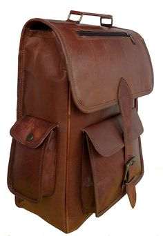 Handolederco Vintage Bag Leather Handmade Vintage Style Backpack/College Bag *** Unbelievable item right here!(This is an affiliate link and I receive a commission for the sales) : Travel Backpack Travel Backpack, Travel Bags, Fashion Backpack, Vintage Bag, Vintage Style, College Bags, Belleza Natural, Leather Backpack, Messenger Bag
