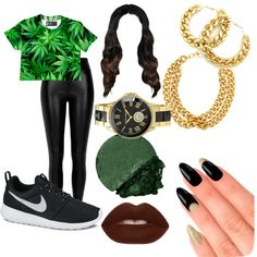 hustlin to the day o die by bluemob on Polyvore featuring polyvore fashion style River Island NIKE Vince Camuto Ben-Amun Lime Crime Lancôme House of Holland