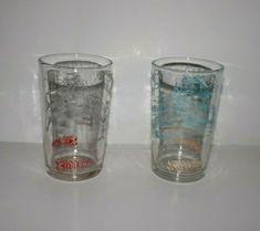 Vintage 1964 Polaner Superman In Action Glasses Vintage Glassware, Drinkware, Pint Glass, Superman, Action, Bar, Glasses, Tableware, Colors