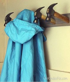 How to make a coat rack from dollar store hammers!