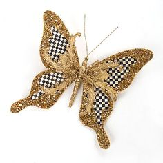 Golden Butterfly Clip - Large