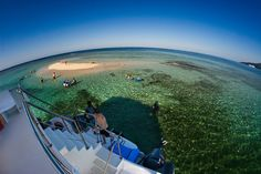 Fisheye view of Sandbar Island, Labadee, Haiti from the second deck of the tour boat, Island Time. Gorgeous!