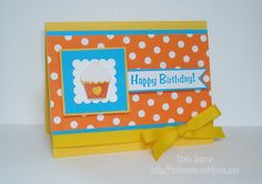 Cupcake birthday card.  Birthday cards should always be this happy and bright!