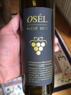 Osél Ruchè di Castagnole Monferrato 2011  The Ruchè grape is a very rare grape from the Piemonte region of Italy.  The 2011 is spicy, but medium-bodied, soft and very floral. Most like a Nebbiolo.  Delicious and only $18.00!