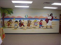 in jesus steps mural | In Jesus' Steps... by David Eden in Wylie TX