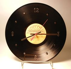 record clock, clay wants a music themed room