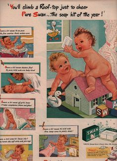 Vintage Swan's Baby Soap ad, 1945.