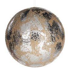 Glob Metall 13 cm - Argintiu/Crem Silver Color, Metallica, Christmas Bulbs, Branding Design, Champagne, Holiday Decor, Vintage, Speech Balloon, Christmas Light Bulbs