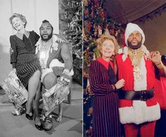 What's that? Oh it's just Nancy Reagan sitting on Mr. T's lap. And he's wearing a Santa suit. Awesome.