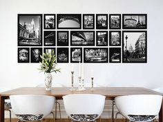 20-Piece Photo Frame Set this would look great on our wall with b and w photos.