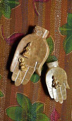 Buddah Hands - Plümo Ltd. great for my crystals Indian Eyes, Chill, Buddha Jewelry, Buddha Buddhism, Meditation Space, Gothic House, Hamsa Hand, Sacred Art, Yoga
