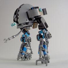 II Utility Mech by Marco Marozzi on ArtStation. Lego Brick, Lego Creations, Legos, Aliens, Creative Ideas, Artwork, Heart, Diy Creative Ideas, Lego Blocks