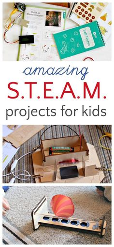 DIY STEM and STEAM projects for kids to do at home.