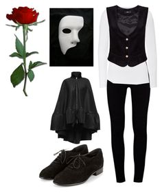 """Female Phantom of the Opera"" by nutellaninjja on Polyvore featuring J Brand, Majestic, Masquerade and Antonio Berardi"