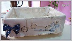 Cestas personalizadas para bebes en ft bordados