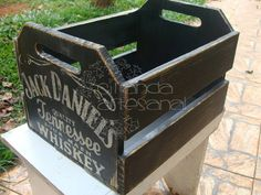 Caixote Rustico Jack Daniels