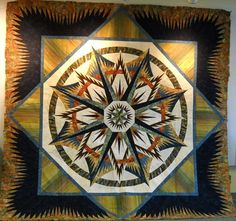 I would never even attempt to make this but i had to pin it for the skill and talent that went in to it!!**//Mariner's Compass, Quiltworx.com, Made by Certified Shop Cottonpicke's Quilt Shop