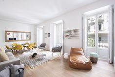 Fabuloso apartamento de dos habitaciones, con un aire fresco y muy luminoso.