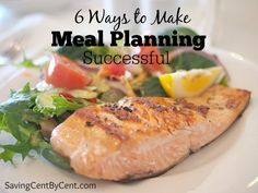 Trying to decide a meal to cook each night can be challenging and eating out can be expensive. Here are 6 tips to make meal planning successful and make it easier on you to get dinner on the table. And this will save you money so you don't eat out or run to the grocery store as often. Plus, there are meal ideas you could do for your family.