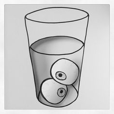 Eyes in a glass. Paper art. Book Williams Jr.