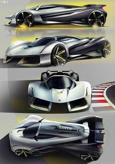 concept cars LOTUS Evil Vision GT concept on Behance Car Design Sketch, Car Sketch, Ferrari F80, Lamborghini, Rolls Royce, Audi Ai, Supercars, Peugeot Partner, Electric Car Concept