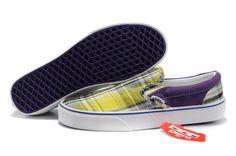 dce9f13c30 Mens Yellow Purple Classics Norwich Plaid Slip-On Vans Purple Vans