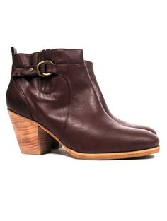 Rachel Comey Hitch Perforated Buckle Booties, $425